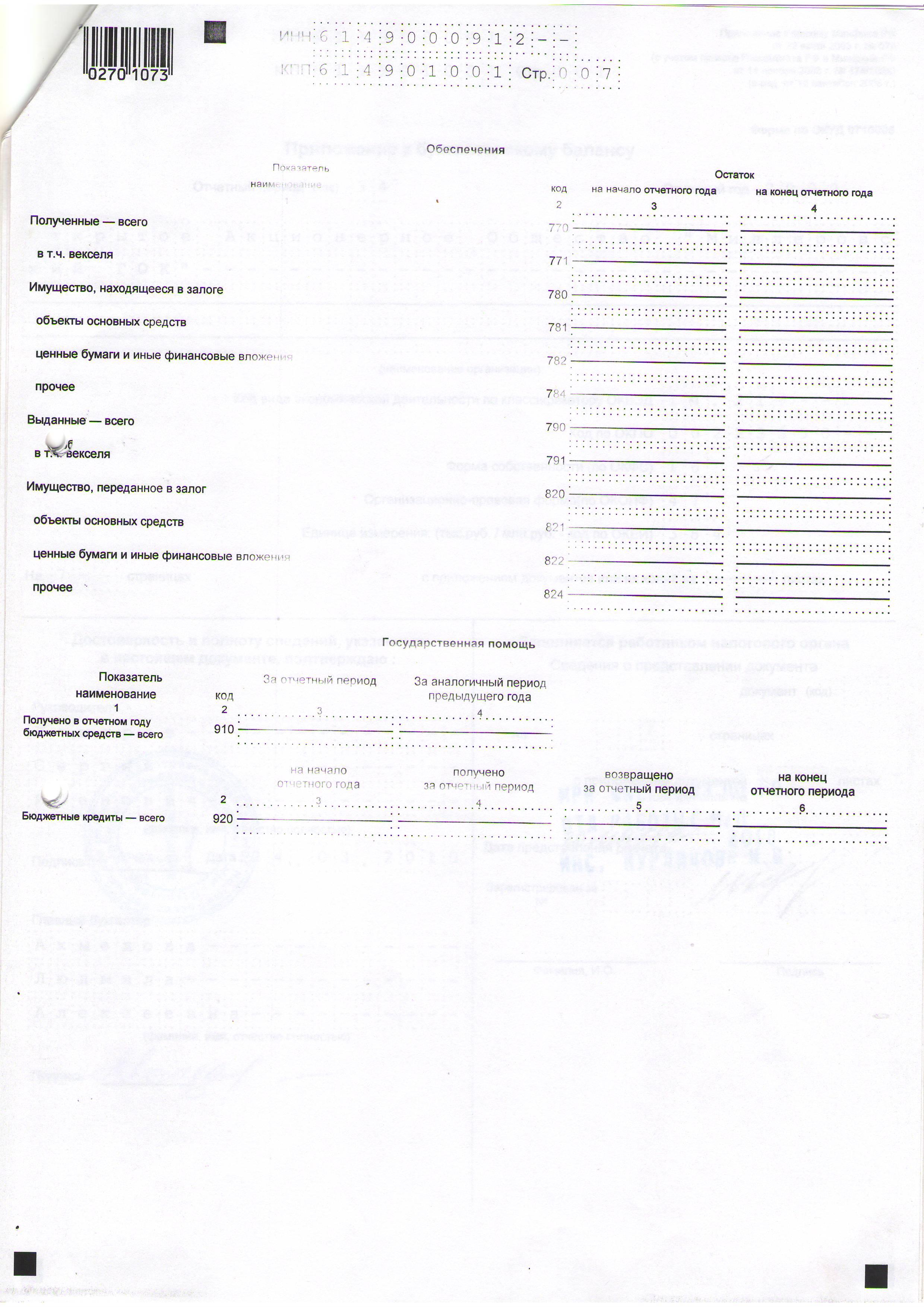 Oтчеты 2010 г 1 годовой отчет за 2010 отчет
